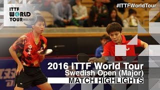 【Video】JEON Jihee・YANG Haeun VS CHENG I-Ching・LEE I-Chen, 2016 Swedish Open  finals