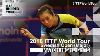 【Video】HU Melek VS HAN Ying, 2016 Swedish Open  semifinal