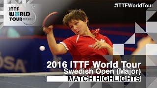 【Video】MITTELHAM Nina VS CHENG I-Ching, 2016 Swedish Open  best 32