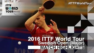 【Video】APOLONIA Tiago VS Chiang Hung-Chieh, 2016 Swedish Open  best 64