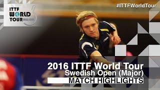 【Video】SZOCS Hunor VS SODERLUND Simon 2016 Swedish Open