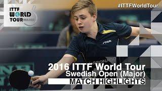 【Video】MOREGARD Truls VS LAMADRID Juan 2016 Swedish Open