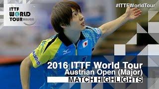 【Video】CALDERANO Hugo VS KENTA Matsudaira, 2016 Hybiome Austrian Open  finals