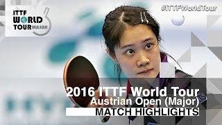 【Video】MIMA Ito VS YUI Hamamoto, 2016 Hybiome Austrian Open  finals