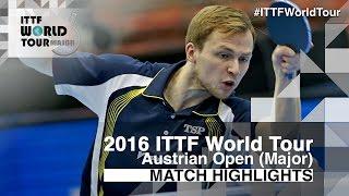 【Video】DUDA Benedikt VS KENTA Matsudaira, 2016 Hybiome Austrian Open  semifinal