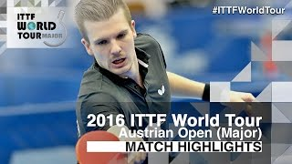 【Video】WALTHER Ricardo VS MAHARU Yoshimura, 2016 Hybiome Austrian Open  best 16