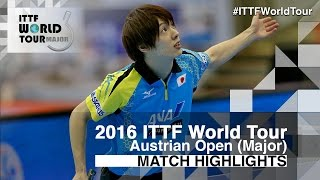 【Video】KOKI Niwa VS KENTA Matsudaira, 2016 Hybiome Austrian Open  best 16