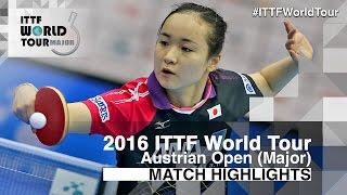 【Video】MIMA Ito VS SILBEREISEN Kristin, 2016 Hybiome Austrian Open  best 32