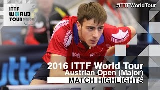【Video】SEYFRIED Joe VS KWAN Man Ho, 2016 Hybiome Austrian Open  best 32