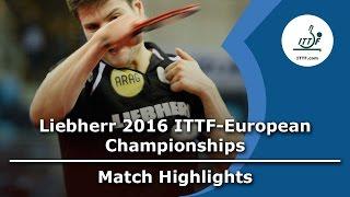 【Video】OVTCHAROV Dimitrij VS DURAN Marc, LIEBHERR 2016 ITTF European Table Tennis Championships best 64