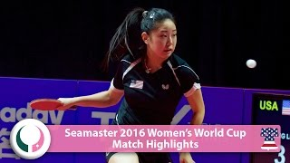 【Video】ZHANG Lily VS CHENG I-Ching, 2016 Seamaster Women's World Cup best 16