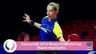 【Video】SAMARAElizabeta VS MIU Hirano, 2016 Seamaster Women's World Cup best 16