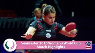 【Video】SOLJA Petrissa VS SHEN Yanfei, 2016 Seamaster Women's World Cup best 16