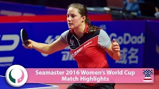【Video】YANG Haeun VS WINTER Sabine, 2016 Seamaster Women's World Cup best 16