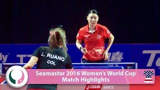 【Video】JIANG Huajun VS RUANO Lady 2016 Seamaster Women's World Cup