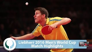 【Video】KARLSSON Kristian VS FENG Yijun LIEBHERR 2016 Men's World Cup