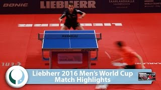 【Video】XU Xin VS CALDERANO Hugo, LIEBHERR 2016 Men's World Cup best 16