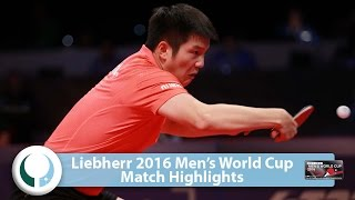 【Video】FAN Zhendong VS GaoNing, LIEBHERR 2016 Men's World Cup best 16