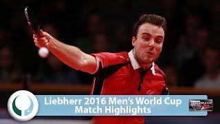 【Video】STEGER Bastian VS GAUZY Simon, LIEBHERR 2016 Men's World Cup best 16
