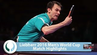 【Video】MONTEIRO Joao VS FEGERL Stefan LIEBHERR 2016 Men's World Cup