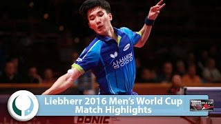 【Video】LEE Sangsu VS KARLSSON Kristian LIEBHERR 2016 Men's World Cup