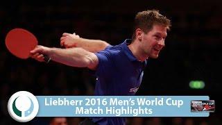 【Video】STEGER Bastian VS CALDERANO Hugo LIEBHERR 2016 Men's World Cup