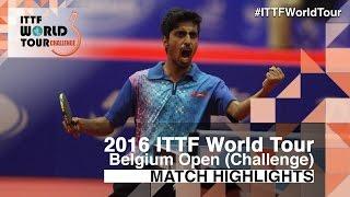 【Video】NUYTINCK Cedric VS GNANASEKARAN Sathiyan, 2016 Belgium Open  finals