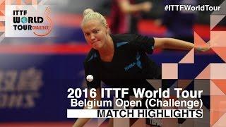 【Video】POTA Georgina VS YUI Hamamoto, 2016 Belgium Open  finals