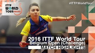 【Video】SZOCS Bernadette VS POTA Georgina, 2016 Belgium Open  semifinal