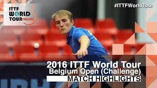 【Video】ANDERSSON Harald VS GNANASEKARAN Sathiyan, 2016 Belgium Open  semifinal