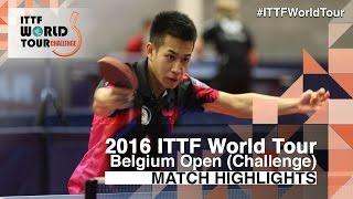 【Video】LIAO Cheng-Ting VS LAMBIET Florent, 2016 Belgium Open  finals