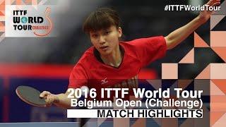 【Video】SZOCS Bernadette VS KYOKA Kato, 2016 Belgium Open  finals