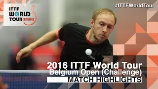 【Video】NUYTINCK Cedric VS BRODD Viktor, 2016 Belgium Open  best 32