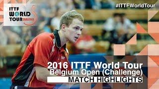 【Video】DUDA Benedikt VS AKERSTROM Fabian, 2016 Belgium Open  best 32