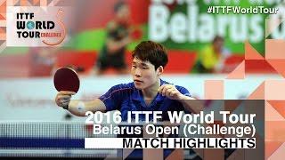 【Video】JANG Woojin VS VLASOV Grigory, 2016 Belarus Open  finals