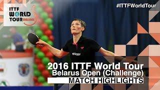 【Video】PAVLOVICH Viktoria VS SAKI Shibata, 2016 Belarus Open  finals