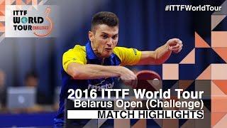 【Video】JANG Woojin VS SZOCS Hunor, 2016 Belarus Open  semifinal