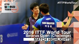 【Video】CHO Seungmin VS PARK Ganghyeon, 2016 Belarus Open  finals