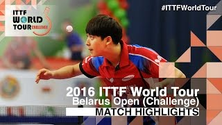 【Video】PARK Ganghyeon VS PLATONOV Pavel, 2016 Belarus Open  best 16