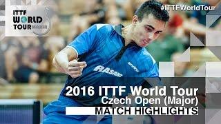【Video】KARAKASEVIC Aleksandar VS OUAICHE Stephane, 2016 Czech Open  semifinal