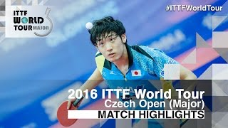 【Video】YUTO Muramatsu VS CHO Seungmin, 2016 Czech Open  semifinal