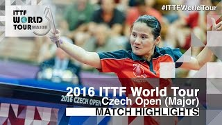 【Video】EKHOLM Matilda VS YANG Xiaoxin, 2016 Czech Open  semifinal