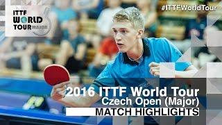 【Video】KALLBERG Anton VS OUAICHE Stephane, 2016 Czech Open  quarter finals