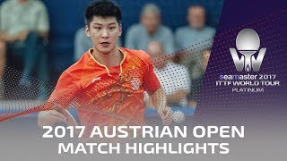 【Video】XUE Fei VS KOBES Kristian 2017 Seamaster 2017 Platinum, Austrian Open