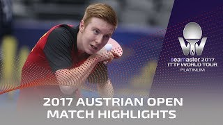 【Video】YAN An VS LAMBIET Florent, 2017 Seamaster 2017 Platinum, Austrian Open best 32