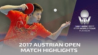 【Video】FANG Bo VS GACINA Andrej, 2017 Seamaster 2017 Platinum, Austrian Open best 32