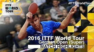 【Video】BOLL Timo VS SAMSONOV Vladimir, 2016 German Open  quarter finals