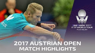 【Video】KOKI Niwa VS FILUS Ruwen, 2017 Seamaster 2017 Platinum, Austrian Open best 16