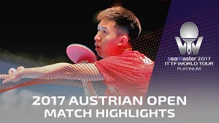 【Video】FANG Bo VS KENTA Matsudaira, 2017 Seamaster 2017 Platinum, Austrian Open quarter finals