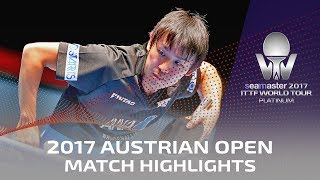 【Video】LIN Gaoyuan VS KOKI Niwa, 2017 Seamaster 2017 Platinum, Austrian Open quarter finals